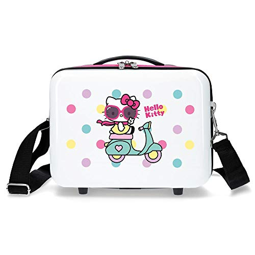 Hello Kitty Neceser ABS Adaptable Girl Gang Hello Kitty, Color Azul Marino
