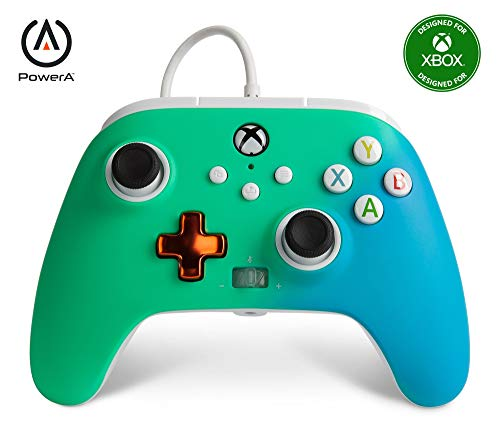 PowerA Enhanced Wired Controller for Xbox - Seafoam Fade, Gamepad, Wired Video Game Controller, Gaming Controller, Xbox Series X|S, Xbox One - Xbox Series X (Only at Amazon)