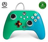 Controller cablato avanzato per PowerA Xbox – Verde chiaro sfumato, gamepad, controller per videogiochi cablato, controller di gioco, Xbox S …