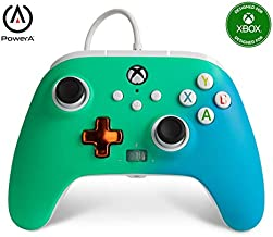 PowerA Enhanced Wired Controller for Xbox - Seafoam Fade, Gamepad, Wired Video Game Controller, Gaming Controller, Xbox Series X S, Xbox One - Xbox Series X (Only at Amazon)