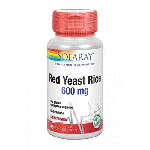Levadura Roja de Arroz (Red Yeast Rice) 45 cápsulas de Solaray X 13