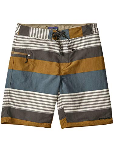 Patagonia Herren Surf Apparel Shorts, Fitz Stripe/Kastanos Brown, 30
