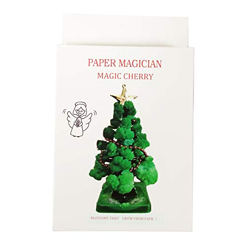 【UK Stock】Mini Christmas Tree Magic Growing, Paper Tree DIY Crystal Growing Kit/Ornaments Decoration Toy Novelty Xmas Gift Boys Girls Science Kits & Toys Learning Guide (1PC)