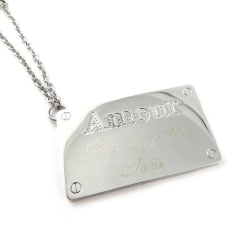 Altesse [L0872] - Portachiavi acciaio 'Amour' argentato.