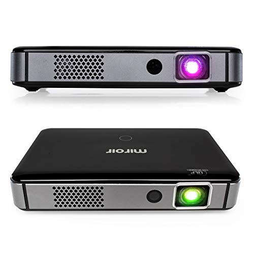 Miroir Smart HD Portable Mini Projector M300A Surge Series Android OS Native Apps Available LED Lamp Auto Focus Built in Rechargeable Battery HDMI Input Wireless Input