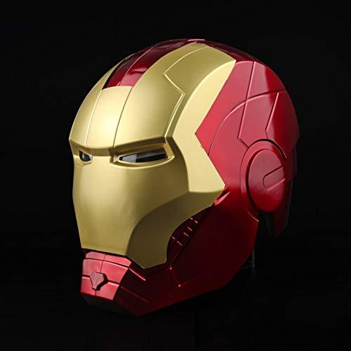 MODRYER Iron Man Helm Avengers 1/1 Toy Modell Maske Wearable und Luminous Spielzeug Film Cosplay Props geeignet für Halloween-Partei-Maskerade,Red …