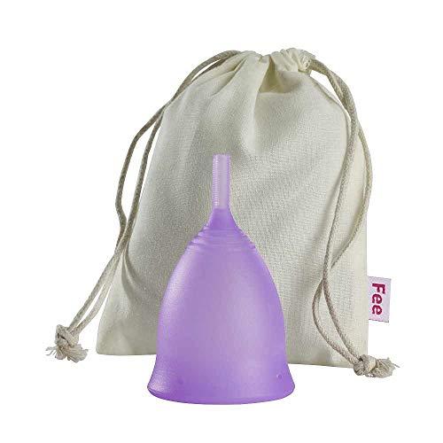 Menstruationstasse Feecup SPORT Größe M/L (lila) - 100% medizinisches Silikon, FDA zertifiziert - besonders bei sportlichen Frauen eine der beliebtesten Menstruationskappen in DEUTSCHLAND