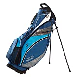 Izzo Golf Versa Riding/Walking Hybrid Blue, Light Blue and White Golf Stand Bag
