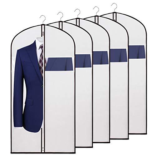 KEEGH Anzug Kleidersack Überzug zur Aufbewahrung und Reisen 110cm,Anti-Motte Schutzhülle, faltbar für Kleid Tanzkostüme Anzüge Mäntel