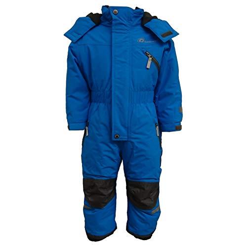 Outburst - Kinder Jungen Kleinkinder Funktions-Skioverall Schneeanzug gefüttert wasserdicht 10.000 mm Wassersäule atmungsaktiv Winddicht, hellblau - 3713970, Größe 122
