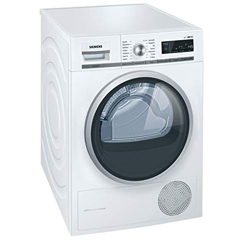 Siemens WT47W5W0 Independiente Carga frontal 8kg A+++ Blanco - Secadora (Independiente, Carga frontal, Bomba de calor, Blanco, Giratorio, Tocar, Derecho)