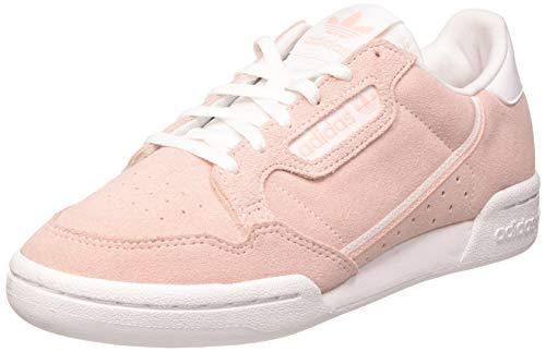 adidas Continental 80 J, Zapatillas de Gimnasio, Rosa Icey Pink F17 Grey One F17 FTWR White, 37 1/3 EU