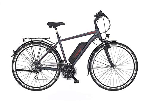 FISCHER Herren - Trekking E-Bike ETH 1806, Elektrofahrrad, anthrazit matt, 28 Zoll, RH 50 cm, Hinterradmotor 45 Nm, 48 V Akku