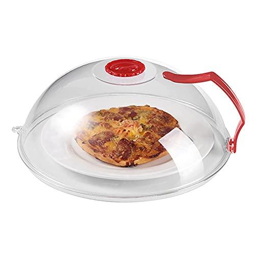 Changge Cubierta de salpicadura de microondas, cubierta de microondas para alimentos sin BPA, tapa protectora de placa de microondas con rejillas de ventilación de vapor
