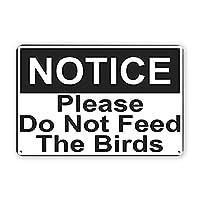 鳥に餌をやらないでくださいヴィンテージブリキの看板、レトロな金属看板壁アートプラークの装飾バーレストランの家の装飾壁画8x12インチの面白いギフト メタルプレートブリキ 看板 2枚セットアンティークレトロ
