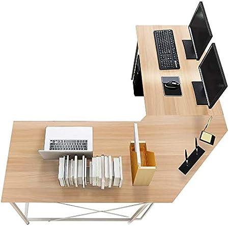 sogesfurniture Computertisch Eckschreibtisch in L-Form, großer Gaming Schreibtisch PC Tisch Winkelkombination Arbeitstisch Bürotisch, (150+150)*55…