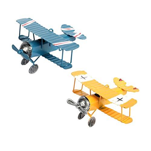 TOYANDONA 2 piezas de avión de decoración vintage mini