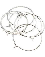LQKYWNA 100 st gör-det-själv vinglas berlock ringar örhängen ringar öron ledningar charmiga smycken ornament för bröllopsfest dekoration prydnader (vit, 35 x 30 mm)