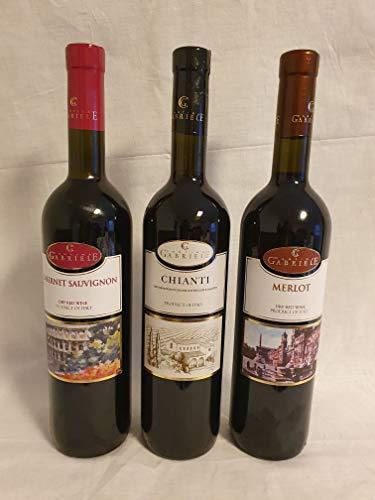 Koscher Weinpaket Kosherer Wein aus Italien vegan Rotwein trocken (3 х 0,75 L) mewuschal Chianti Cabernet Sauvignon Merlot