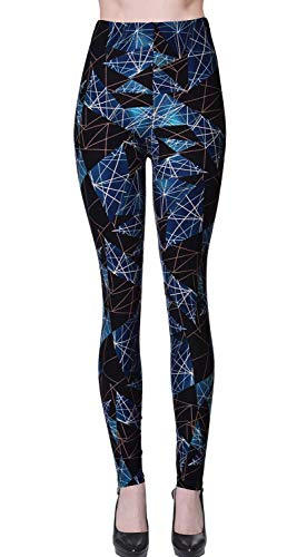 VIV Collection Plus Size Printed Brushed Ultra Soft Leggings (Ancient Shields)