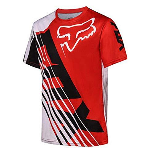 QASIMOF Maillot Cyclisme Homme Manches Longues Vélo Jersey VTT Vêtements Manche Courte Séchage Respirant Cyclisme Tee Shirt (Color 06,L)