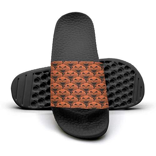 Mens Guys Best Slipper It Halloween Decor-Pumpkin Lanternblack Lightweight Open Toe Flat Bathroom Flip Flops