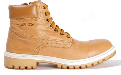 Woodland Men's Navy Nubuck Leather Boots (GB 2920118)-9 UK/India (43 EU)