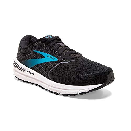 Brooks Womens Ariel '20 Running Shoe - Black/Ebony/Blue - 2E - 10