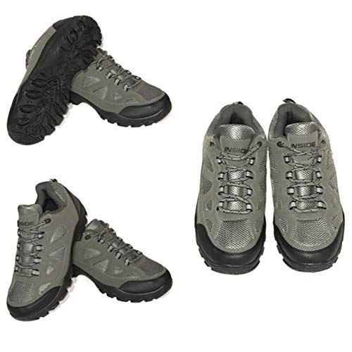 Zapatos Flexibles para Hombre, Color Gris, para hospitales, Enfermeras, Enfermeras, Asistencia Sanitaria, absorción de Golpes, Caminatas, Caminatas, Color Gris, Talla 41 EU