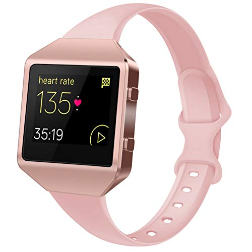 Acrbiutu Bands Compatible with Blaze, Slim Thin Narrow Replacement Silicone Sport Accessory Strap Wristband with Metal Frame for Blaze Smart Fitness Watch Women Men