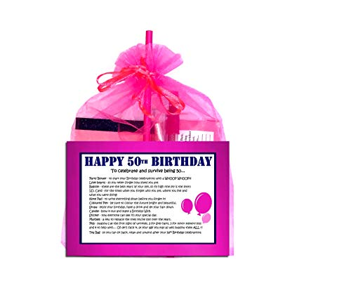 50TH Birthday Survival KIT Pink