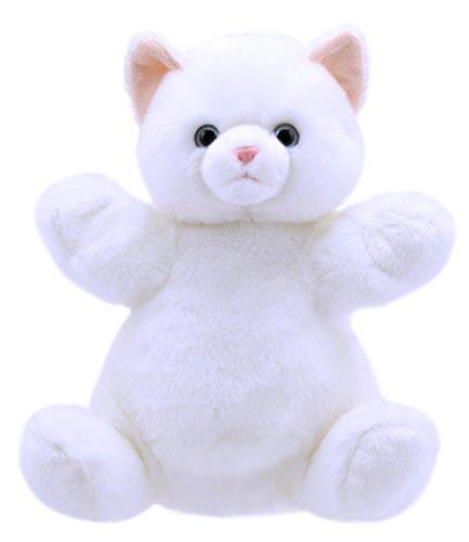 The Puppet Company Cuddly Tumms Gato Marioneta de Mano, Blanco