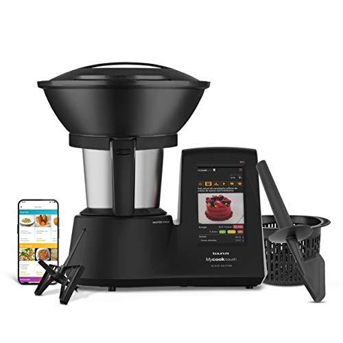 Taurus Mycook Touch Black Edition Matt - Robot de Cocina con wifi, 1600W, 2L, hasta 140º, multifunción, miles de recetas gratuitas e ilimitadas, app mycook, conectividad con tu smartphone, Vaporera