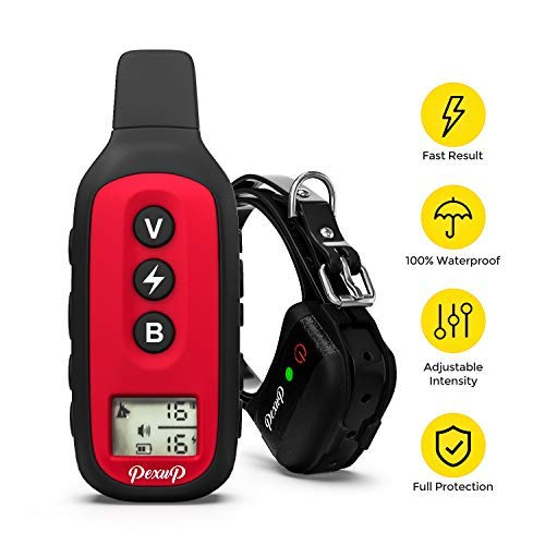 Pexup Waterproof Dog Training Collar - Rechargeable Dog Training Active collar with 3 Training Modes and 100% Waterproof - New Dog Training Collar for small medium and large dogs