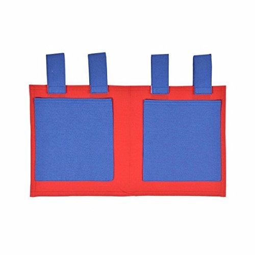XXL Discount Sac de Jeu pour lit d'enfant Bleu/Rouge 48 x 30 cm 100% Coton