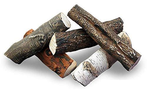 QUALITÄTSPRODUKT 5 Stück *Keramikholz Keramik Holz