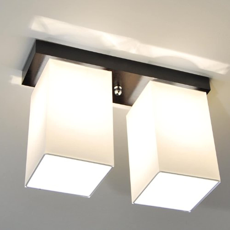 Unbekannt Designer Decken Leuchte Lampe Retro Bern Deckenleuchte Hotel Büro E27 Power LED (Holzfarbe- Natur)