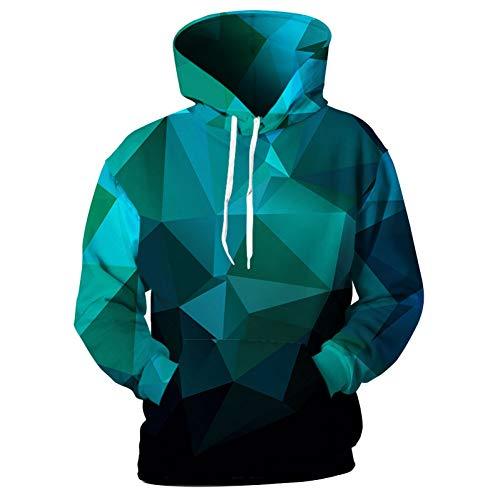 HNKPWY Vierkante Hoodies Mannen Sweatshirts Trainingspakken 3D Print Ruimte Galaxy Ster Hooded Lente Tops Jas