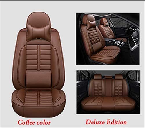 SHENGYUAN Asiento de Cuero Transpirable Cubiertas de Asientos del Sistema Completo Frontal y Posterior Auto Cojines del Protector for el Mercedes Benz Todos los Modelos W124 W202 W203 W245 W211w212