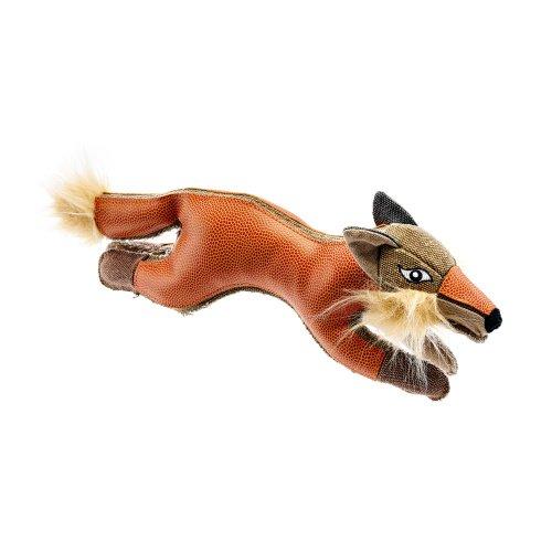 TOUGH TAMBO Hundespielzeug, Kuscheln, Spielen, 38 cm, Fuchs