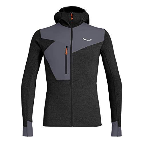 Salewa Herren PUEZ 2 Dry M L/S Hood FZ Tee Blusen & T-Shirts, Black Out melange/3860, 48/M