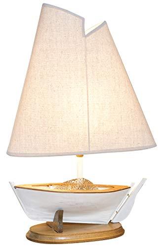 mare-me Segelboot Lampe weiß