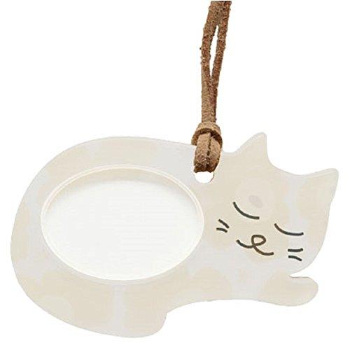 Lente(レンテ)PR-014-4・ペンダントルーペ 寝ニャン かわいい猫型ルーペ 母の日・敬老の日・お誕生日などのおしゃれなプレゼントにも! (ネコベージュ/イエロー)