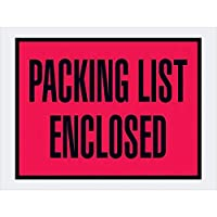 Top Pack Supply Tape LogicPacking List Enclosed Envelopes 4 1/2 x 6 Red (Pack of 1000) [並行輸入品]