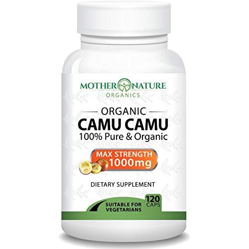 Madre Nature - Organic Camu Camu Berry Capsules - Max Strength 1000mg Per Serving - Natural Vitamin C - Fresh Harvest from Peru