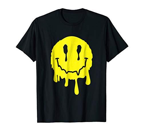 Funny Melting Acid LSD MDMA Smiley Face T-Shirt