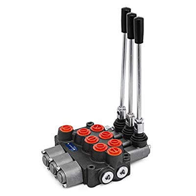Mophorn 3 Spool Hydraulic Control Valve 8 GPM Hydraulic Valve MB31BBB5C1 3500 PSI 8 SAE Ports by Mophorn