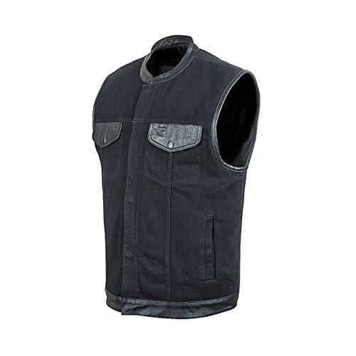 STREET & STEEL Redwood Denim Motorcycle Vest - LG, Black
