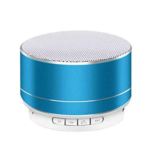 S10 Music Box (Altavoz portátil Bluetooth 4.0, 3W, Radio FM, Lector USB/SD, Display retroiluminado) Durante 8 Horas (Azul)