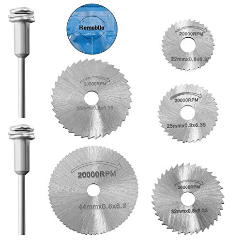 Hemobllo 7pcs / set Mini HSS lama circolare utensile rotante per Dremel Metal Cutter Power Tool Set...
